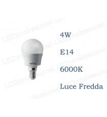 Lampadina LED Wiva 4w E14 luce fredda 6000k equivalente a 35w Sfera Opale