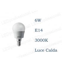 Lampadina LED Wiva 6w E14 luce calda 3000k equivalente a 40w Sfera Opale