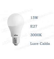 Lampadina LED Wiva 15w E27 luce calda 3000k equivalente a 100w Goccia Opale