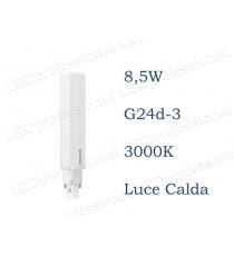 Lampadina LED Philips PLC 8,5w luce calda 3000k 2P G24d-3