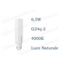 Lampadina LED Philips PLC 6,5w luce naturale 4000k 4P G24q-2