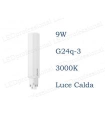 Lampadina LED Philips PLC 9w luce calda 3000k 4P G24q-3