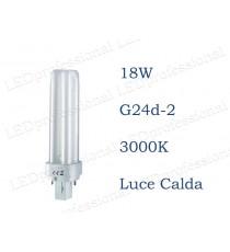 Osram Dulux D 18w luce calda G24d-2 830 3000k