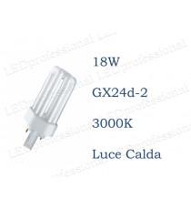 Osram Dulux T 18w luce calda GX24d-2 830 3000k