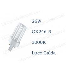 Osram Dulux T 26w luce calda GX24d-3 830 3000k