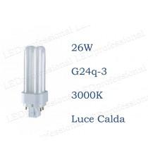 Osram Dulux D/E 26w luce calda G24q-3