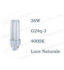 Osram Dulux D/E 26w luce naturale G24q-3