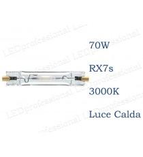 Lampada Philips CDM-TD 70w 3000k luce calda RX7s