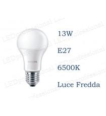 Lampadina LED Philips 13w E27 luce fredda 6500k corepro equivalente a 100w Goccia