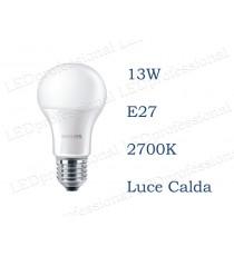 Lampadina LED Philips 13w E27 luce calda 2700k 100w Goccia