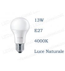 Lampadina LED Philips 13w E27 luce naturale 4000k corepro equivalente a 100w Goccia