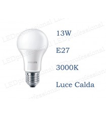 Lampadina LED Philips 13w E27 luce calda 3000k corepro equivalente a 100w Goccia