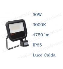 Osram Faro LED  con sensore 50W luce calda 3000K da esterno IP65