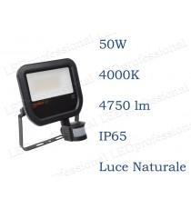 Osram Faro LED  con sensore 50W luce naturale 4000K da esterno IP65