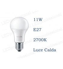 Lampadina LED Philips 11w E27 luce calda 2700k corepro equivalente a 75w Goccia