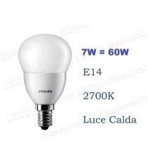 Lampadina Philips Corepro LED Luster 7w E14 luce calda 2700k equivalente a 60w Sfera