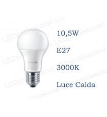 Lampadina LED Philips 10,5w E27 luce calda 3000k corepro equivalente a 75w Goccia
