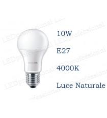 Lampadina LED Philips 10w E27 luce naturale 4000k corepro equivalente a 75w Goccia