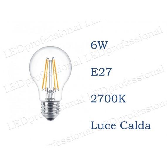 Philips Classic LEDbulb E27 6W Goccia