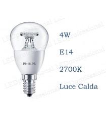 Lampadina Philips Corepro LEDLuster 4w E14 luce calda 2700k equivalente a 25w Sfera Chiara