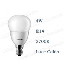 Lampadina Philips Corepro LEDLuster 4w E14 luce calda 2700k equivalente a 25w Sfera