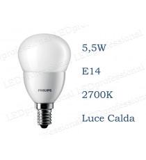 Lampadina Philips Corepro LEDLuster 5,5w E14 luce calda 2700k equivalente a 40w Sfera